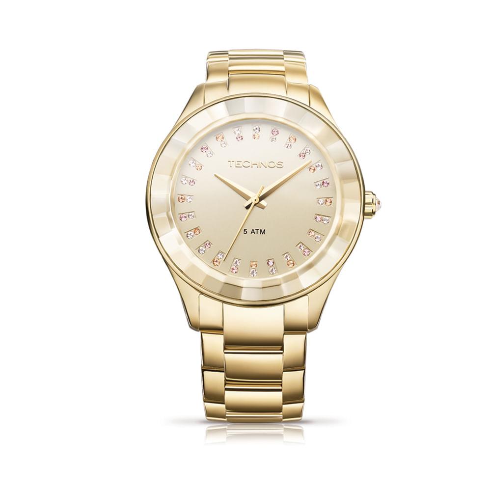 Relógio Technos Feminino Analógico Dourado 2035LTV 4X - timecenter 8c7827ed97