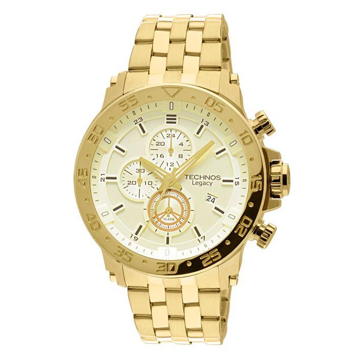 Relógio Technos Masculino Analógico Dourado JS15AO 4X - technos dcd91a29b1