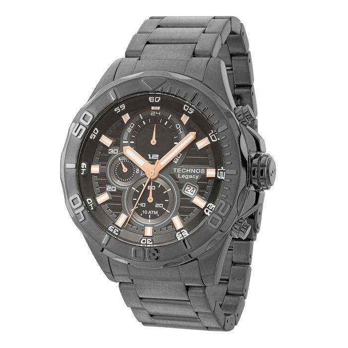 86286375342 Relógio Technos Masculino Analógico Preto JS15BA 3C - technos