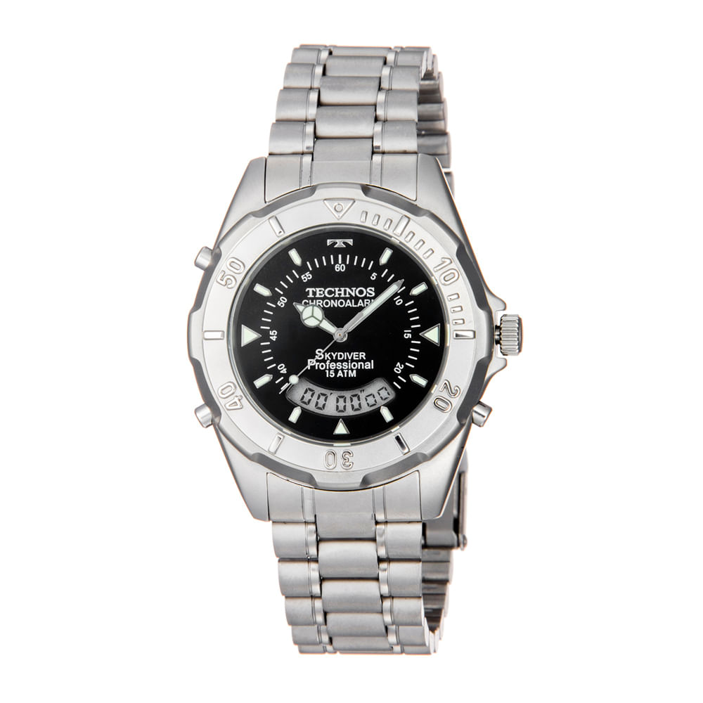 b18eda2cccf Relogio-Technos-Masculino-Analogico-Digital-Prata-T20557-1P. Technos.  Relógio ...