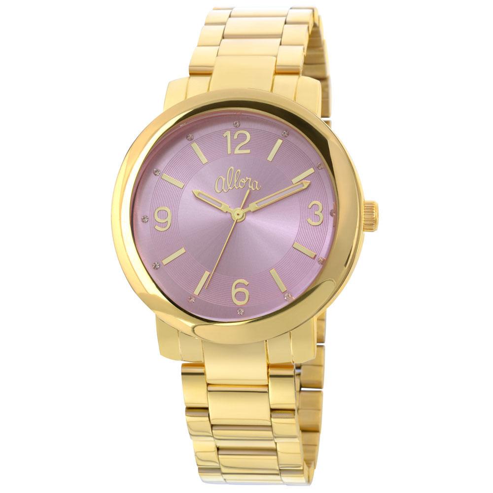 8661b217c3c Relógio Allora Feminino Dourado - AL2035EYL 4G - timecenter