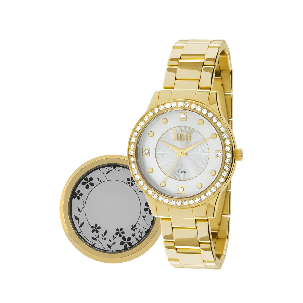 08568c4d52f Relógio Dumont Feminino VIP DU2036LSJ 4D Dourado - timecenter