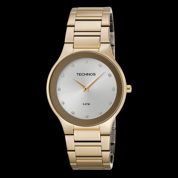 bae7f07f723 Relógio Technos Feminino Dourado - 1L22EN 4K - technos