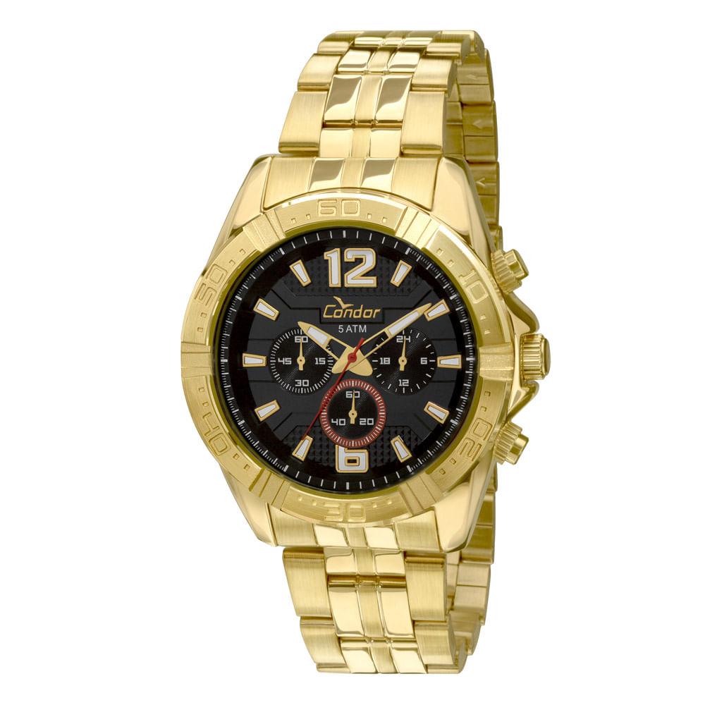 fd33e87cbc4 Relógio Condor Dourado - COVD54AF 4P - timecenter