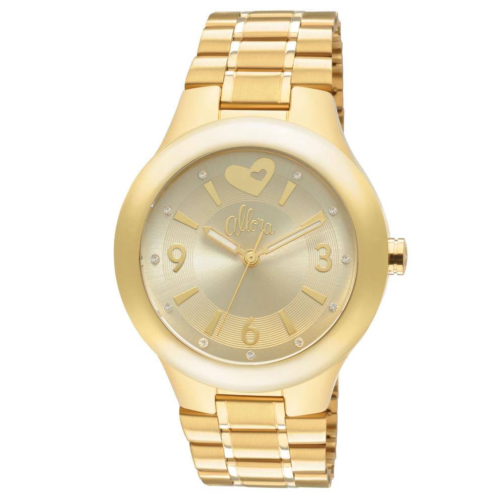 27a03a73fcba5 Relógio Allora Feminino Dourado - AL2035CH 4X - timecenter