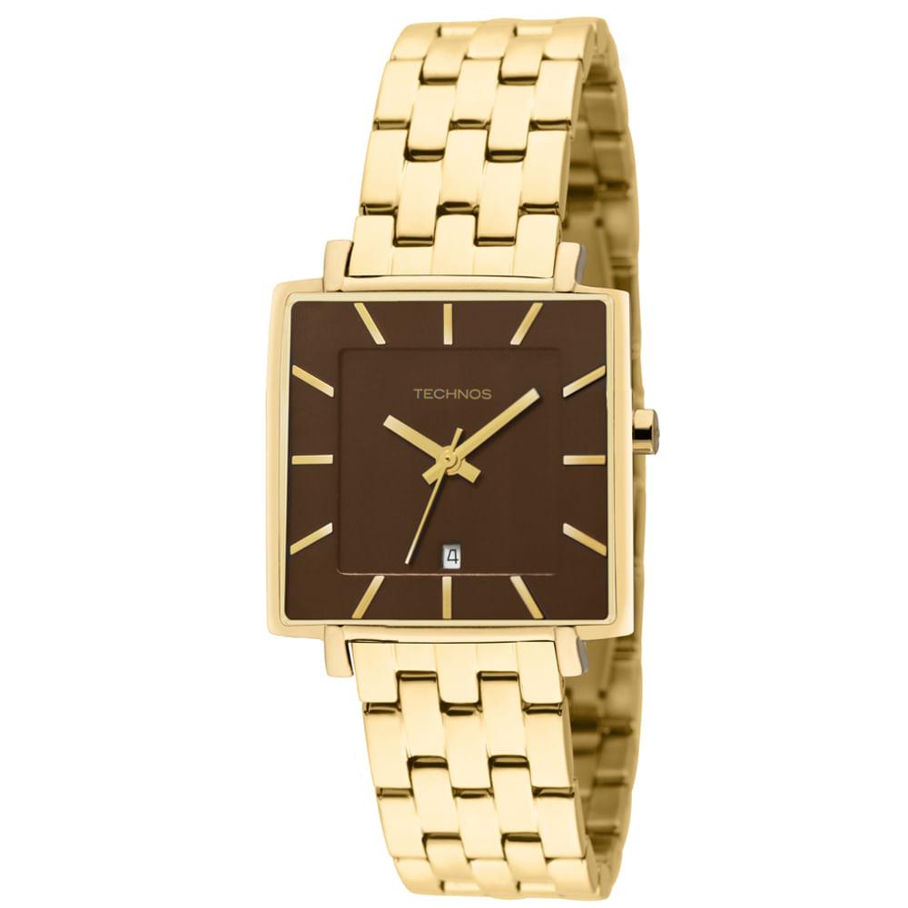 Relógio Technos Masculino Dourado - GL10HU 4M - timecenter 0d38dad9a8