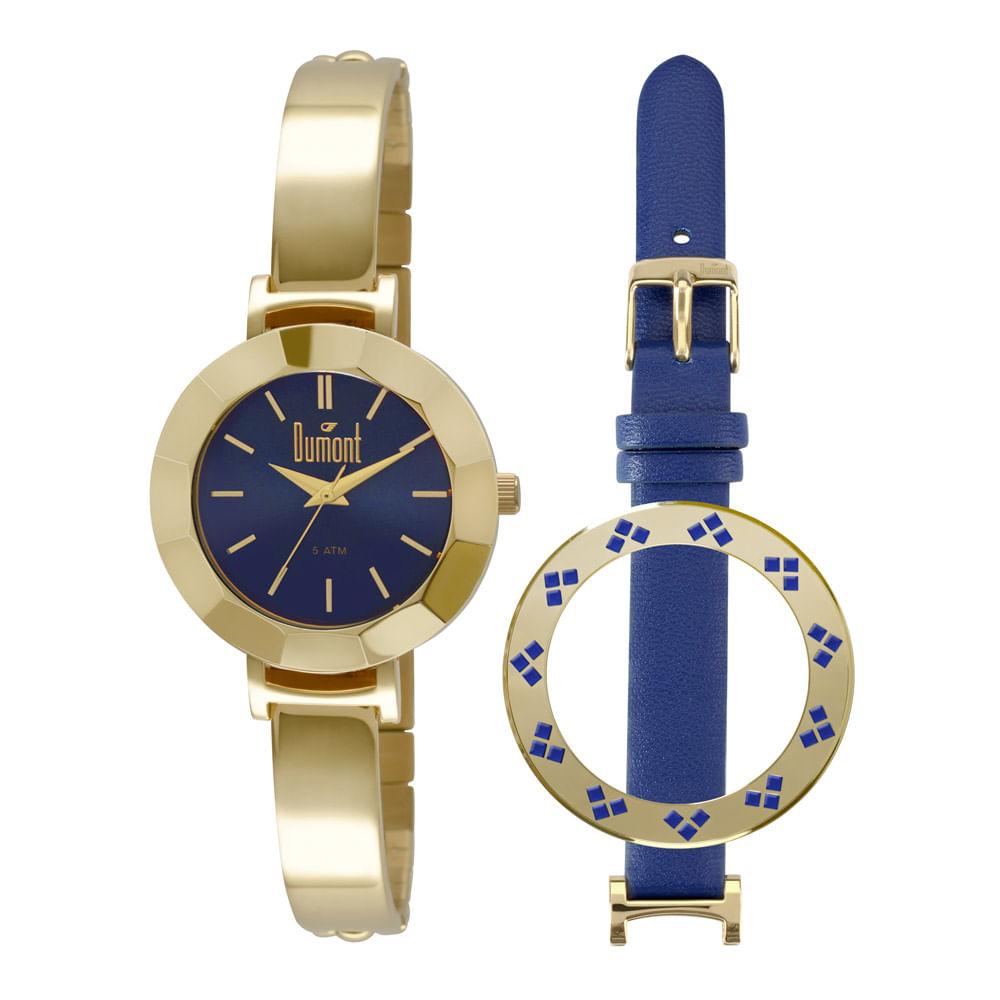 ad5eaa21fc9 Relógio Dumont Feminino VIP DU2035LOA 4A Dourado - timecenter