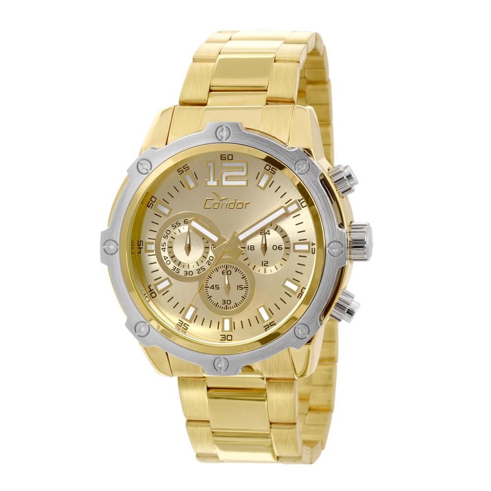 9f2c2e08c15 Relógio Condor Masculino Bicolor - COVD54AE 4X - condor