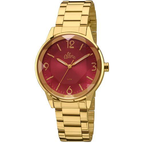 Relógio Allora Feminino Listras e Rendas AL2035FGK 4Q - Dourado ... a3995fe335