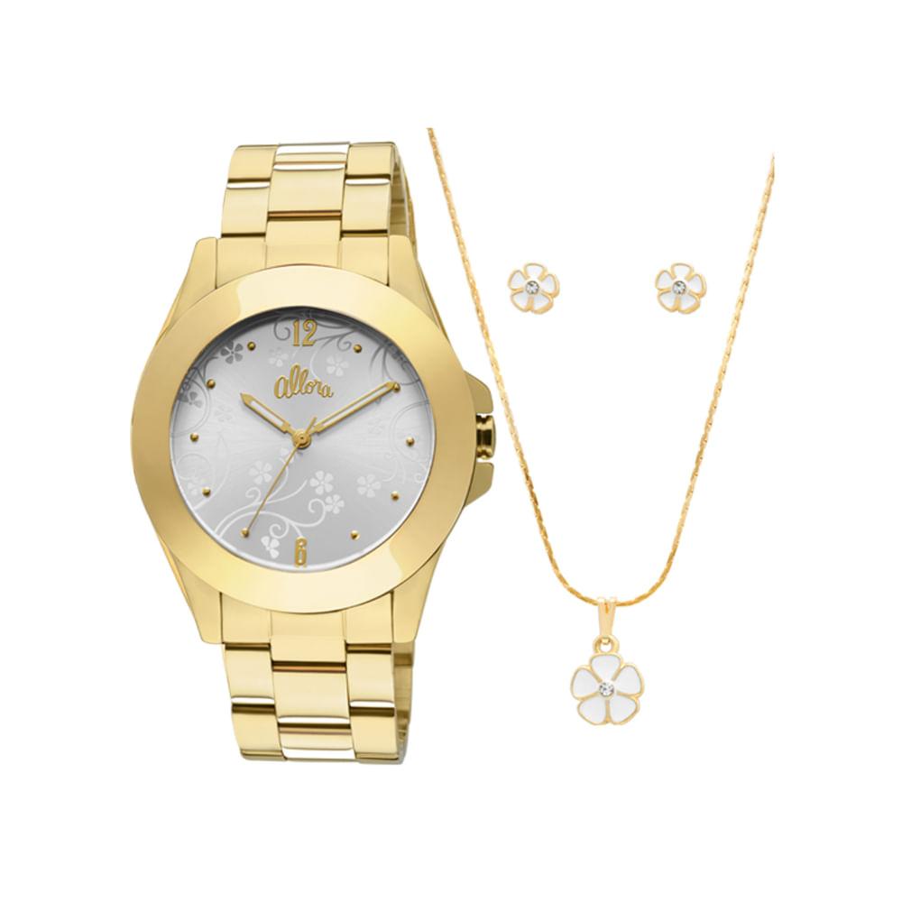 ac0839ab1ad Relógio Allora Feminino Dourado - AL2035FN 4D - timecenter