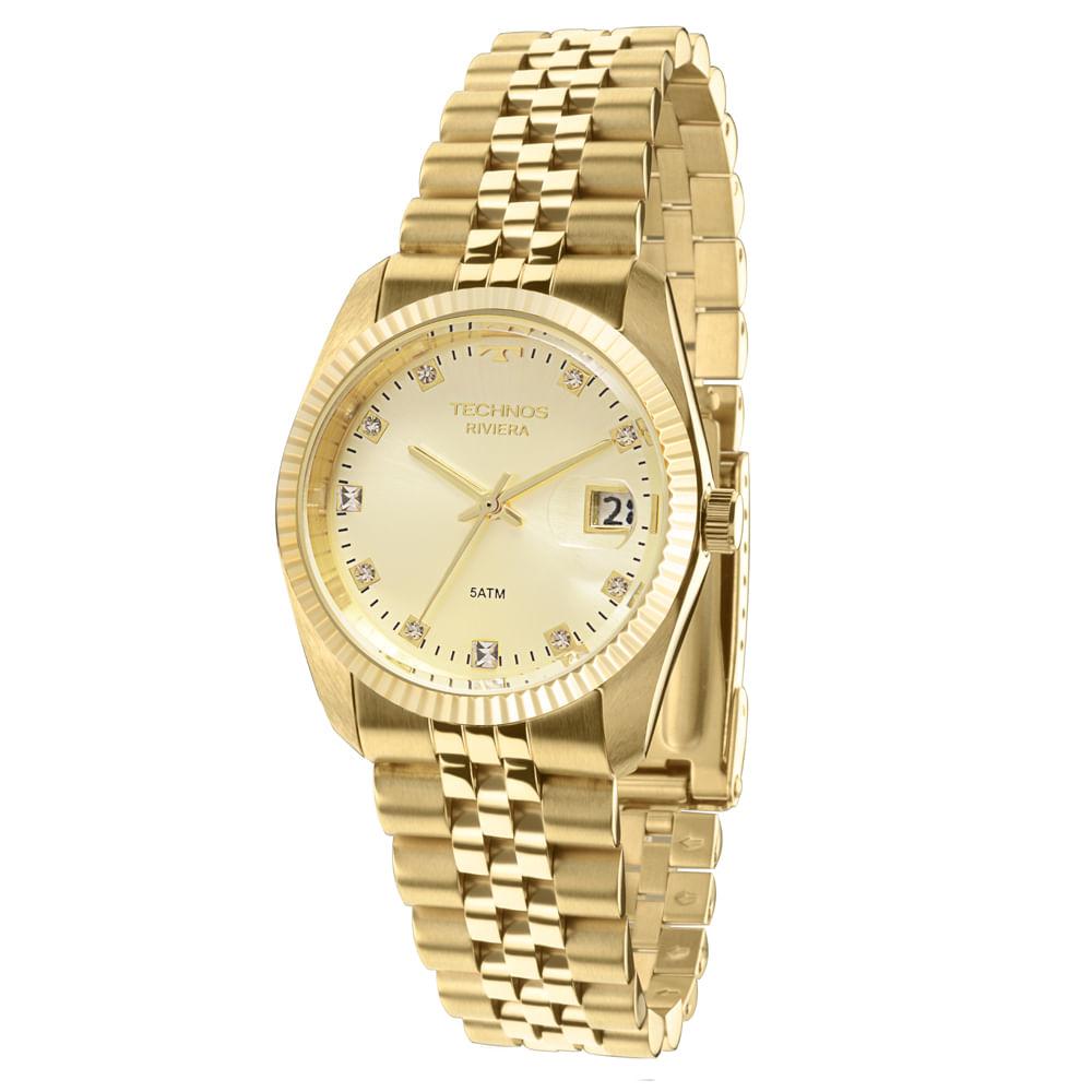 d87cc675985 Relógio Technos Feminino Dourado - GM10YB 4X - Tempo de Black Friday