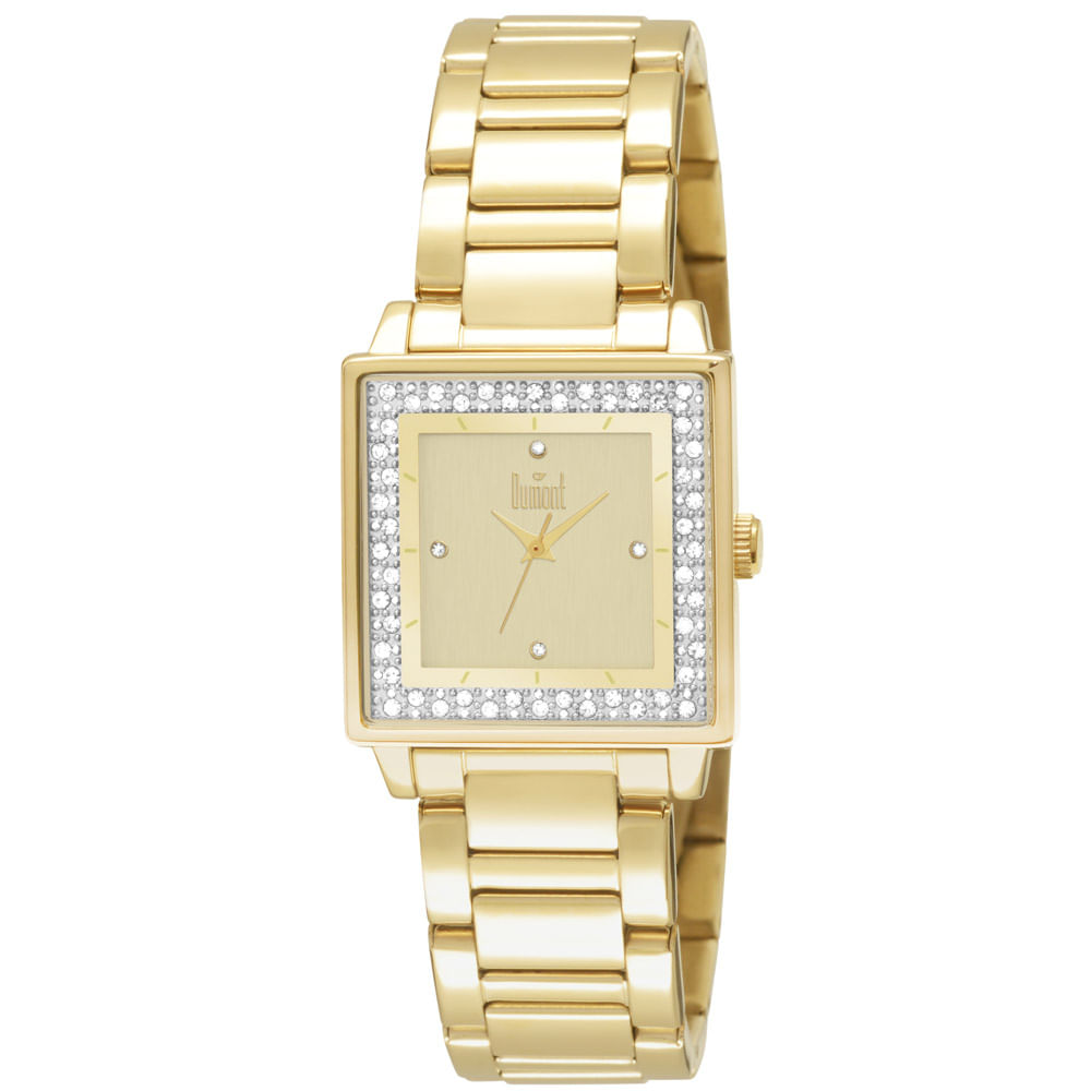 Relógio Dumont Feminino Splendore DU2035LML 4X Dourado - timecenter c0f144effa