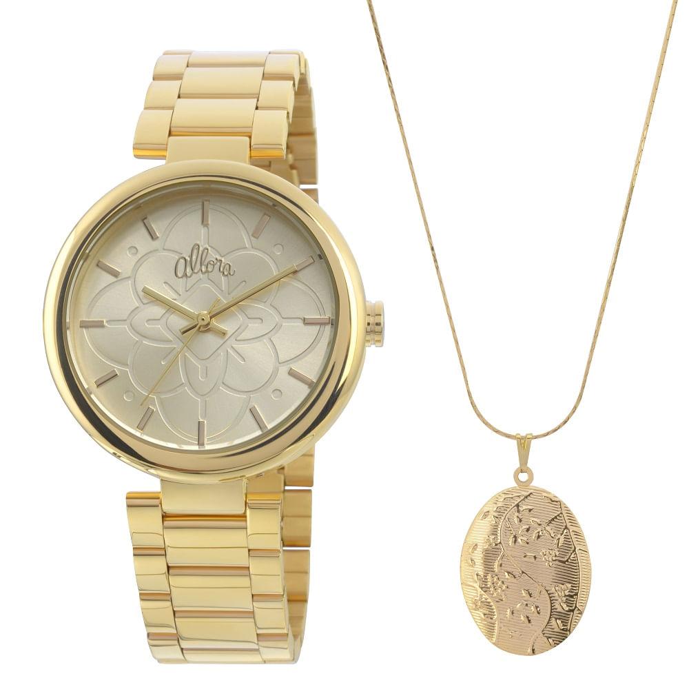 Relógio Allora Feminino Par Perfeito Almar Gêmes - AL2035EYH 4D ... e258972077