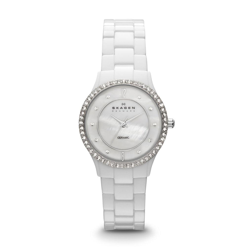 979f48722e13e Relógio Feminino Skagen Cerâmica - 347SSXWC I - timecenter