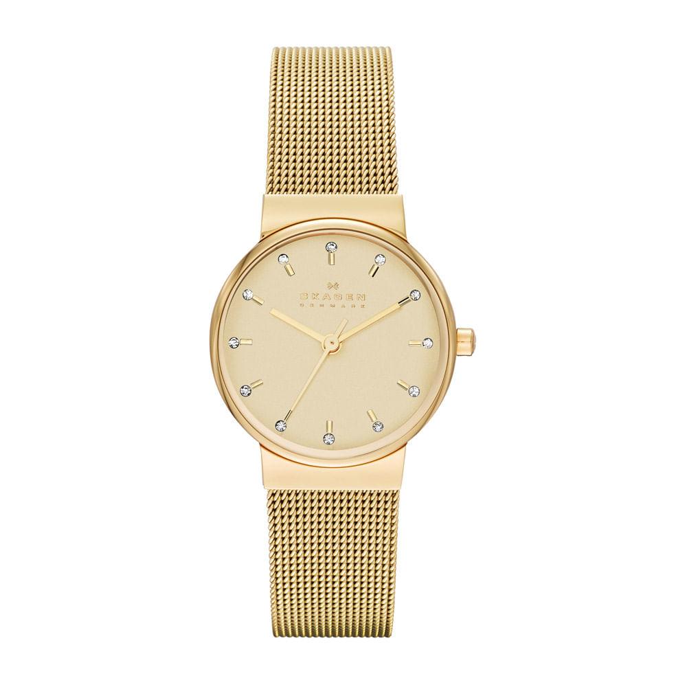 d2d460086973e Relógio SKAGEN Feminino Ancher Dourado - SKW2196 Z - timecenter