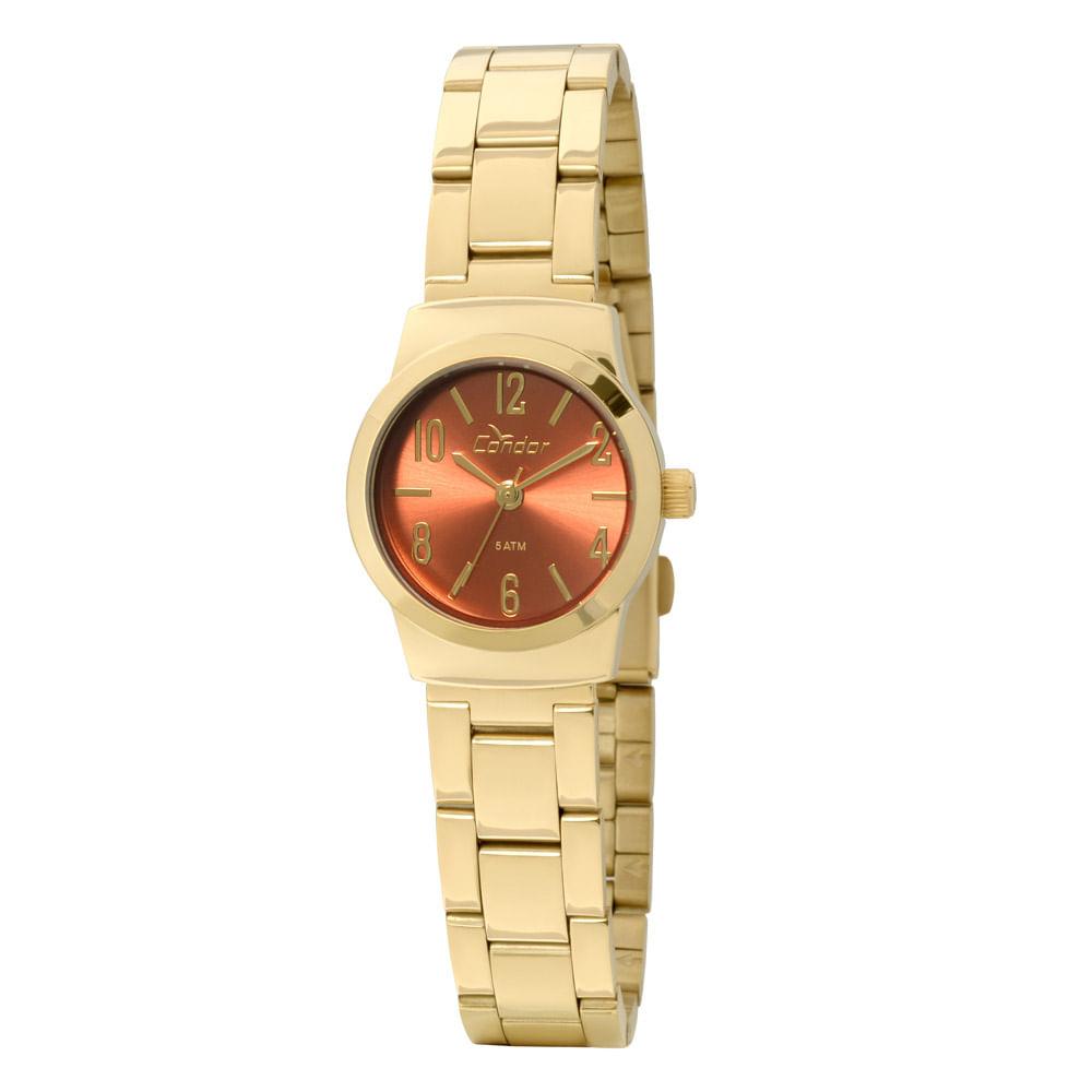 Relógio Condor Mini Dourado - CO2035KLY 4L - timecenter 03c83dbe2b