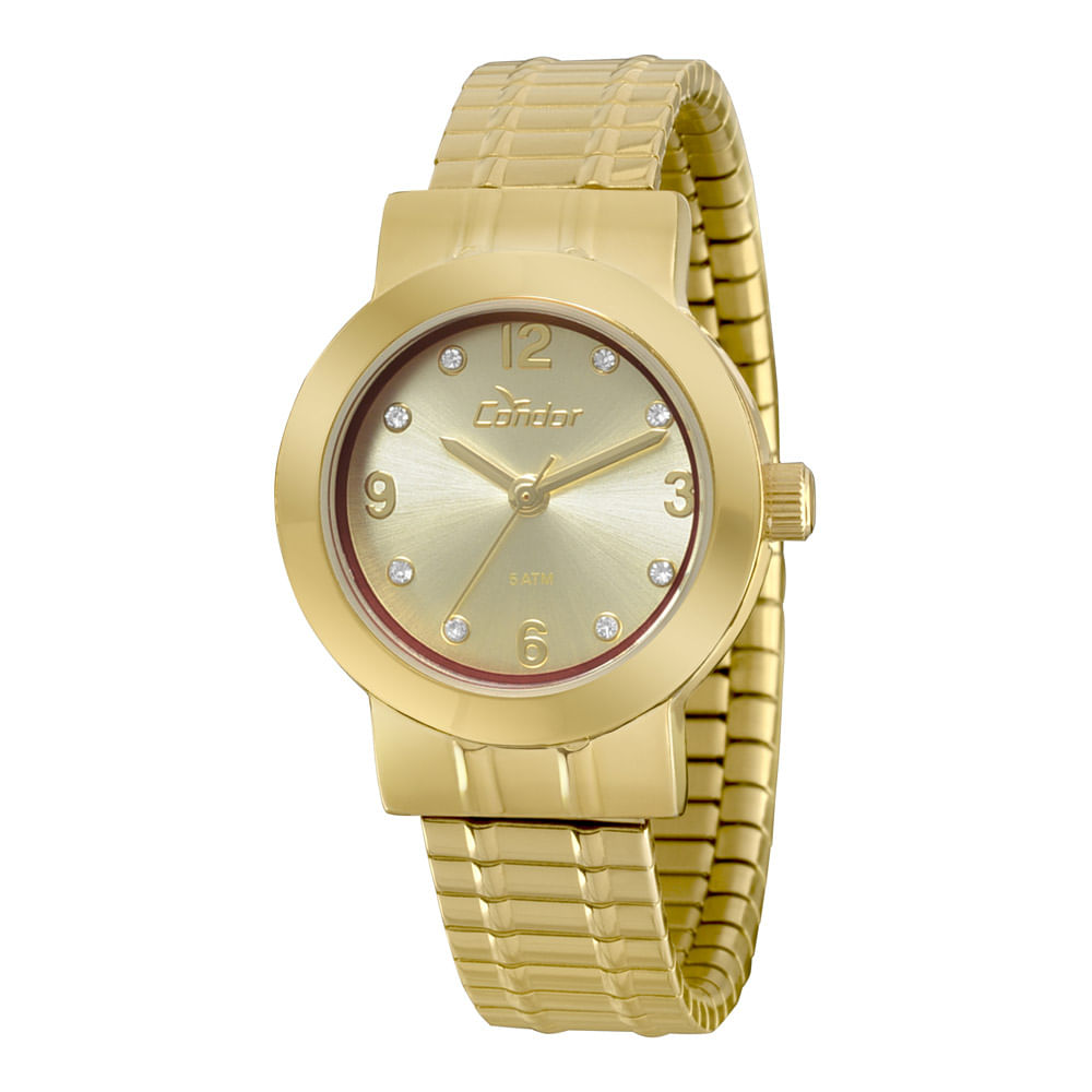 cf81bd0accb Relógio Condor Mini Dourado - CO2036CY 4X - condor
