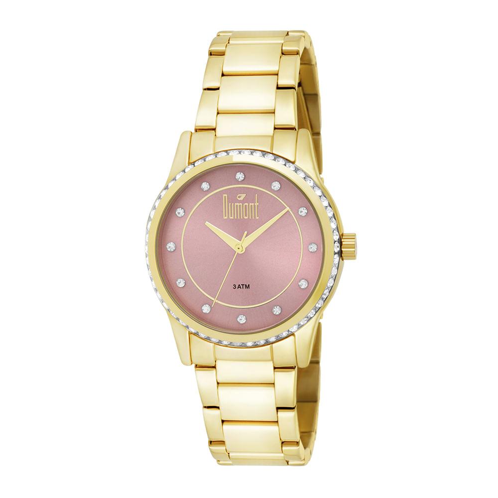 aef1d274ad146 Relógio Dumont Feminino Splendore DU2035LQC 4T Dourado - timecenter