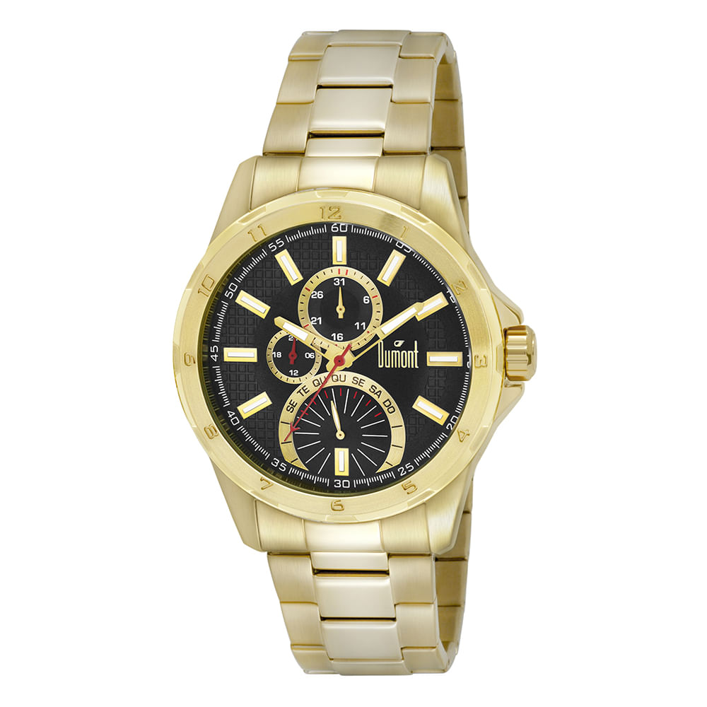 c7ea7893b48 Relógio Dumont Masculino Garbo DUJR10AG 4C Dourado - timecenter