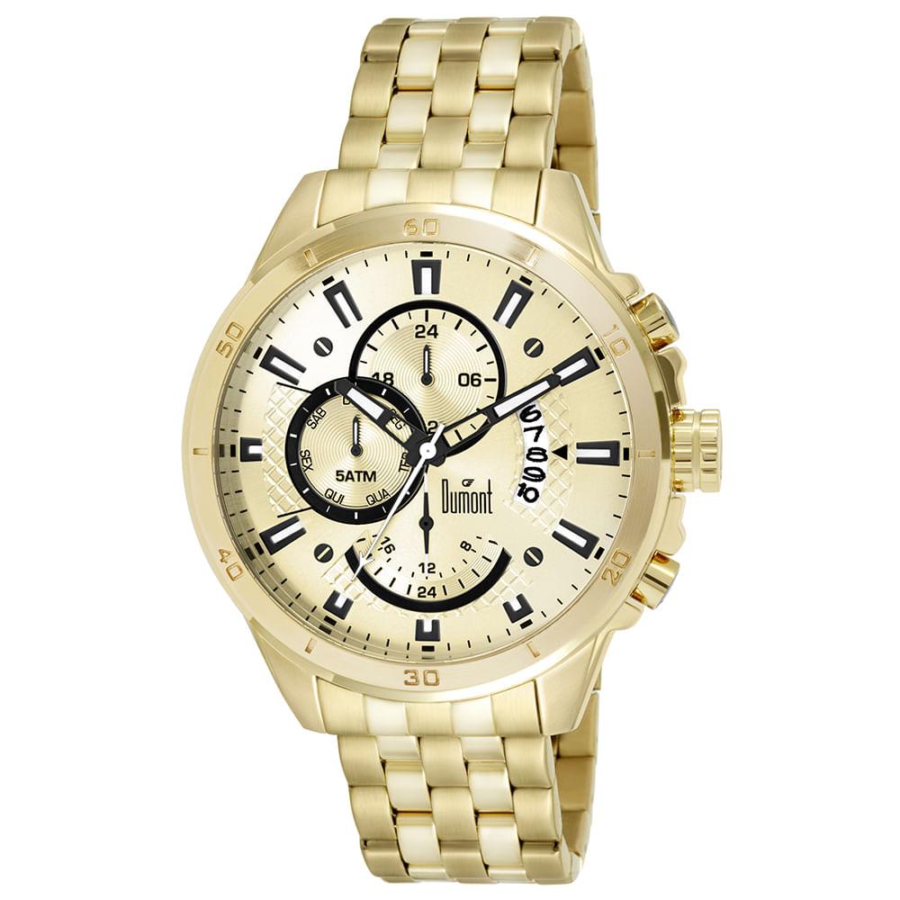 b8747193d82 Relógio Dumont Masculino Garbo DUJP15AB 4D Dourado - timecenter