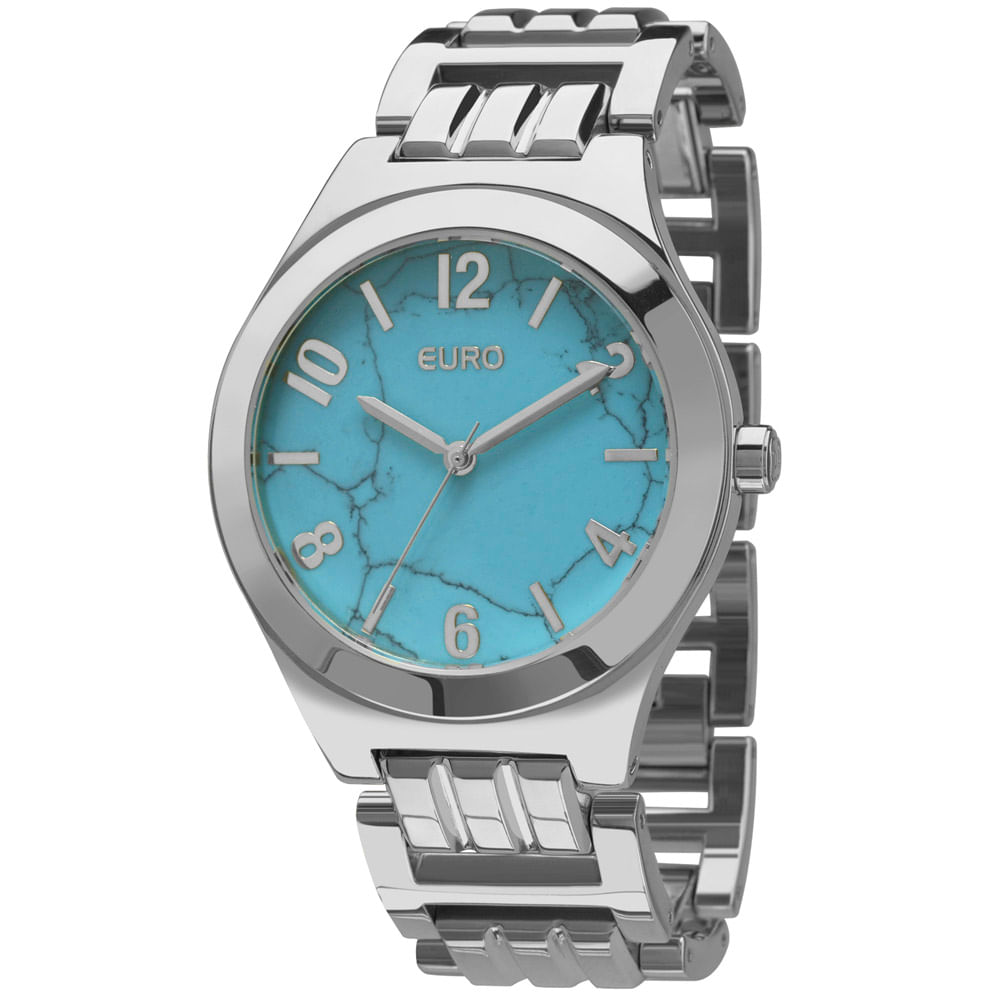 15b82d5aaac Relógio Euro Turquesa Prata - EU2033AH K3A - euro