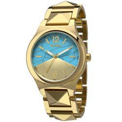 37178c66ef8 Kit Relógio Euro Turquesa Dourado - EU2033AE K4D