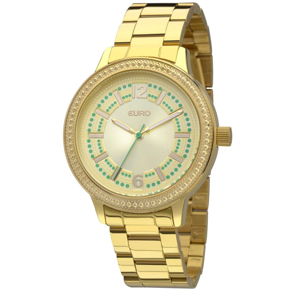 e9b4093bf54 Relógio Euro Folk Dourado - EU2036LZK 4D - timecenter