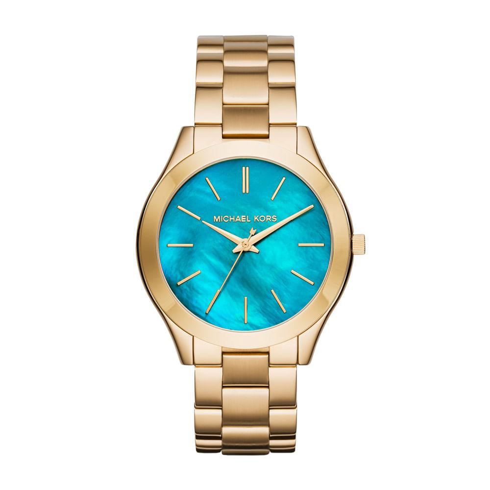 a7a3434d015 Relógio Feminino Michael Kors Lagoon Dourado - MK3492 4VN - timecenter