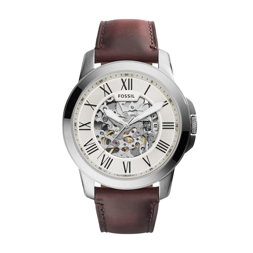 0816637bf44 Relógio Masculino Fossil Grant Prata - ME3099 0BN - fossil