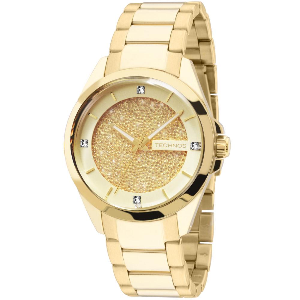 Relógio Technos Crystal Dourado - 203AAA 4X - timecenter 402c87e0d7