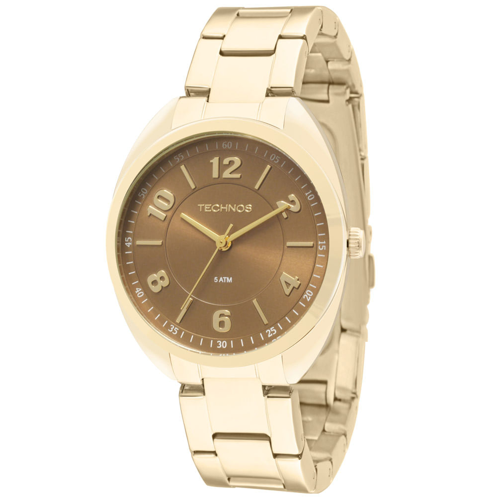 cb03ca6c0b2 Relógio Technos Dress Dourado - 2035MCF 4M - timecenter