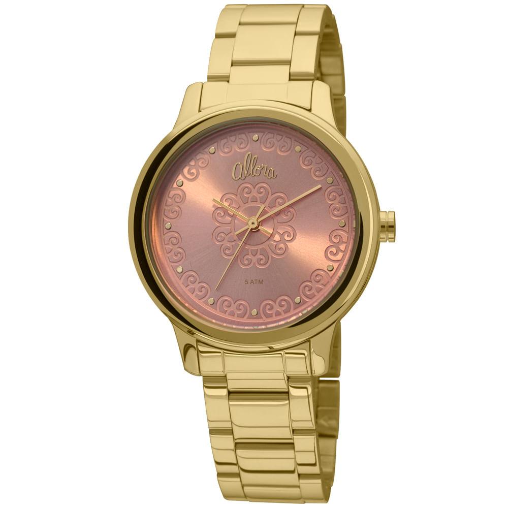 c14d74e8bfb Relógio Allora Segredos do oriente Dourado AL2035FCO 4T - timecenter