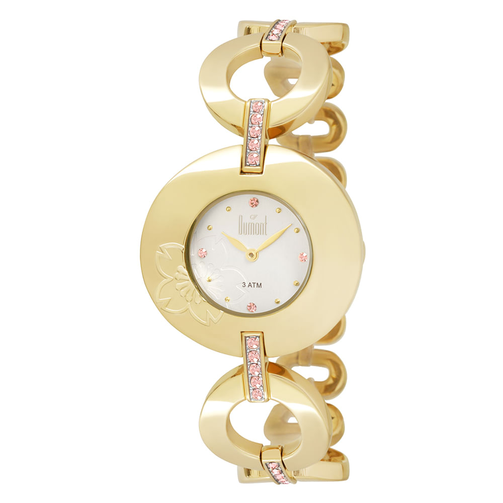 Relógio Dumont Feminino Splendore DU2025AA 4K Dourado - Tempo de ... d80353207a