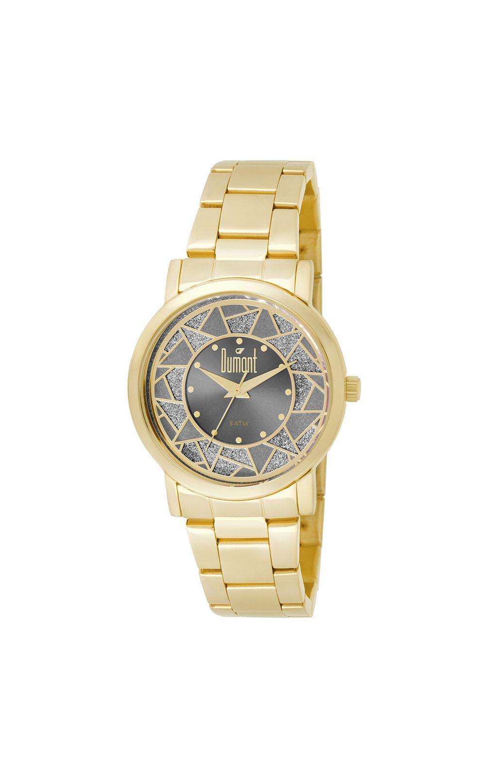 df5fead097884 Relógio Dumont Feminino Elements DU2036LTN 4C Dourado