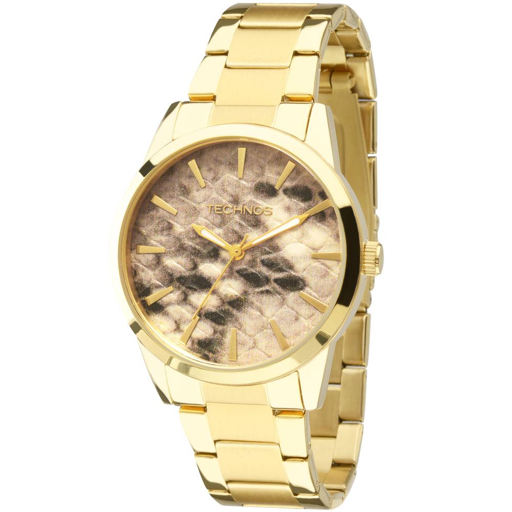 Relógio Technos Trend Dourado - 2039AZ 4M - timecenter 407fee8f5a