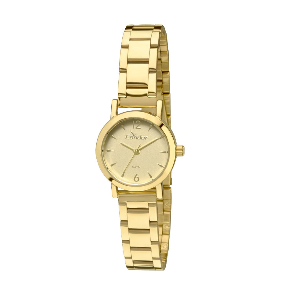 972a1c4afea1a Relógio Condor Eterna Mini Dourado - CO2035KNC 4X - timecenter