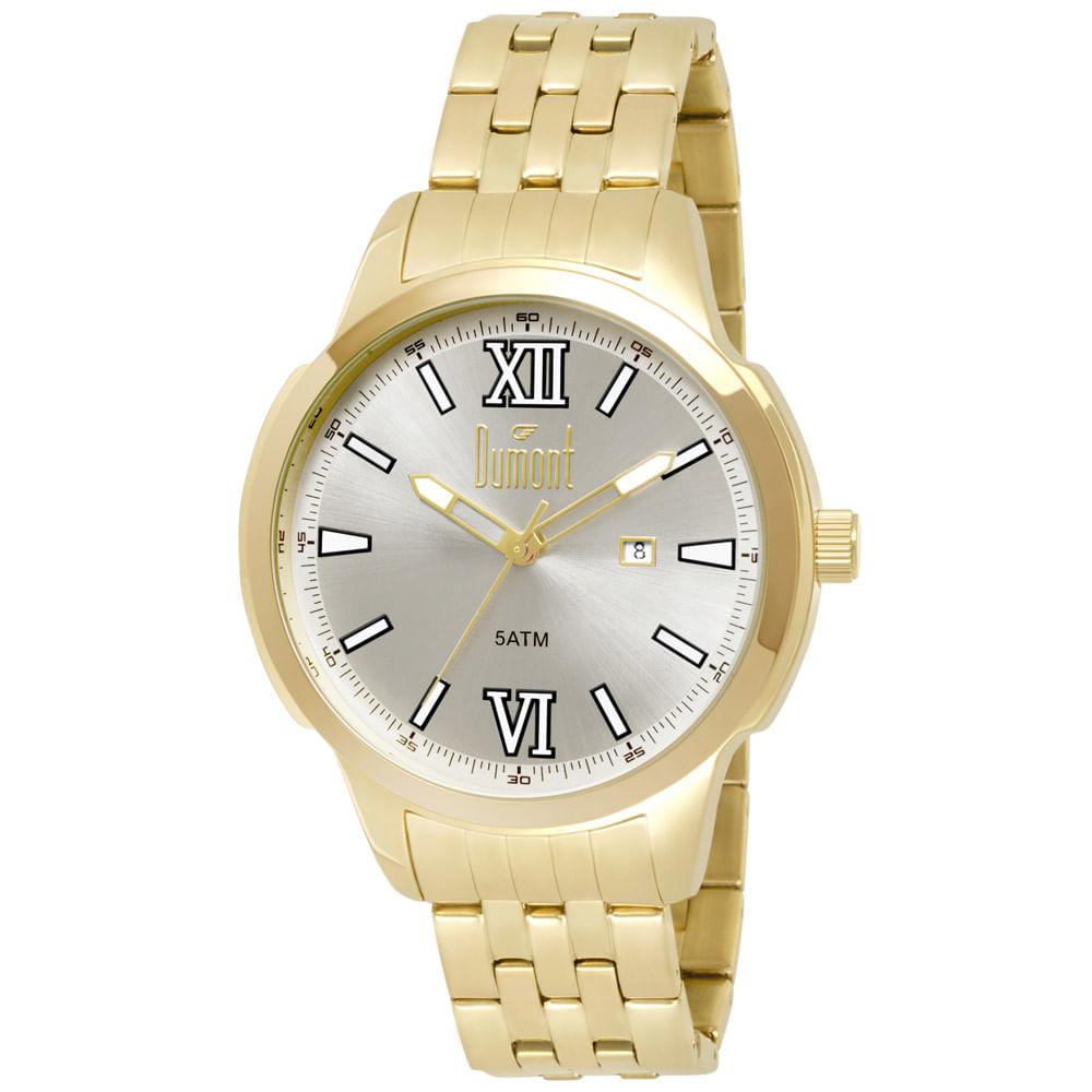 83fbd3e9a6a Relógio Dumont Masculino Berlim DU2115DB 4K Dourado - Tempo de Black ...