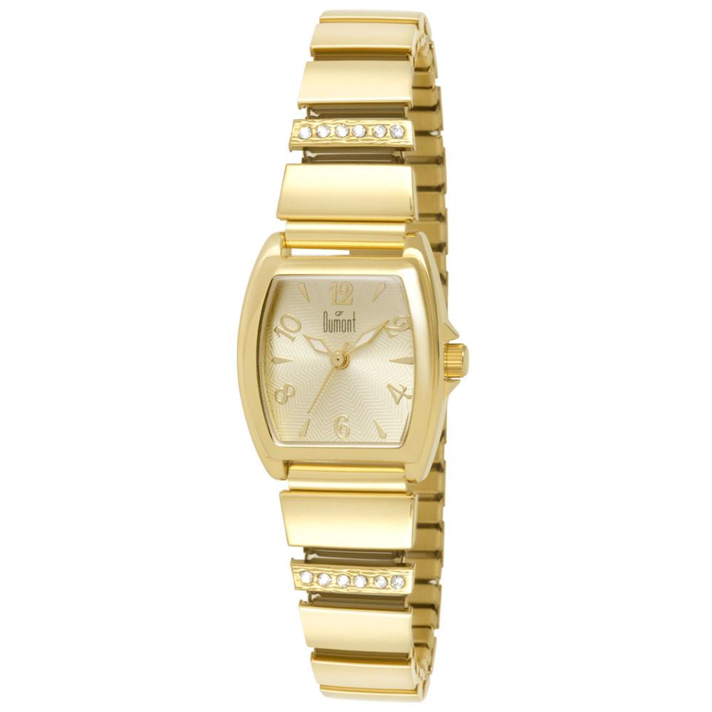 e67a6274e331a Relógio Dumont Feminino Elements DU2035LQQ 4D Dourado - timecenter