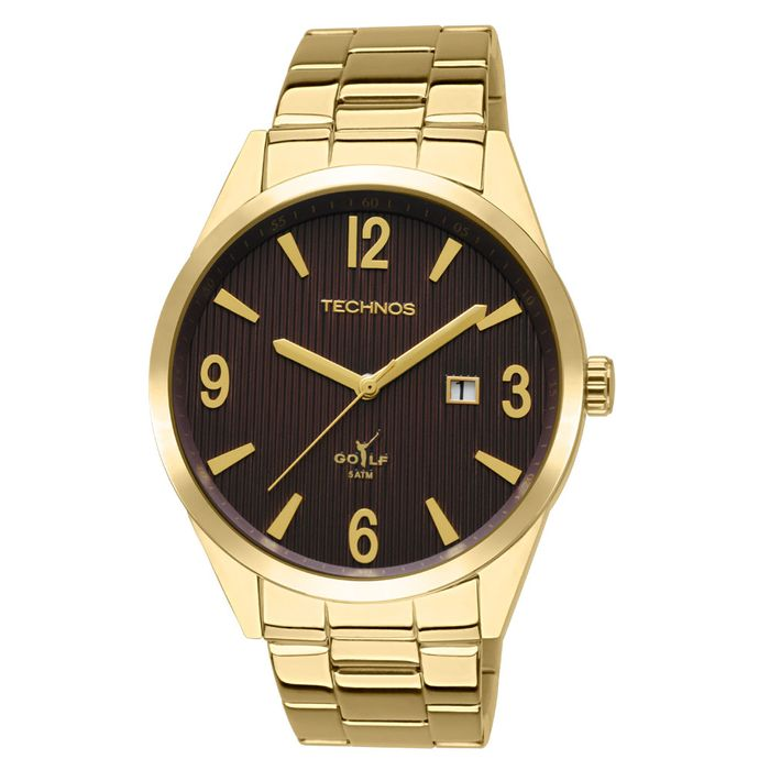 a6f108f0065 Relógio Technos Masculino Analógico Dourado 2115RV 4M - technos