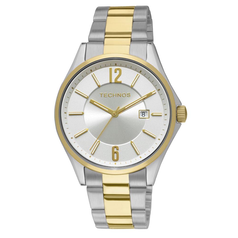 f37a4f8eba0 Relógio Technos Feminino Analógico Prata e Dourado 2115GW 5K ...