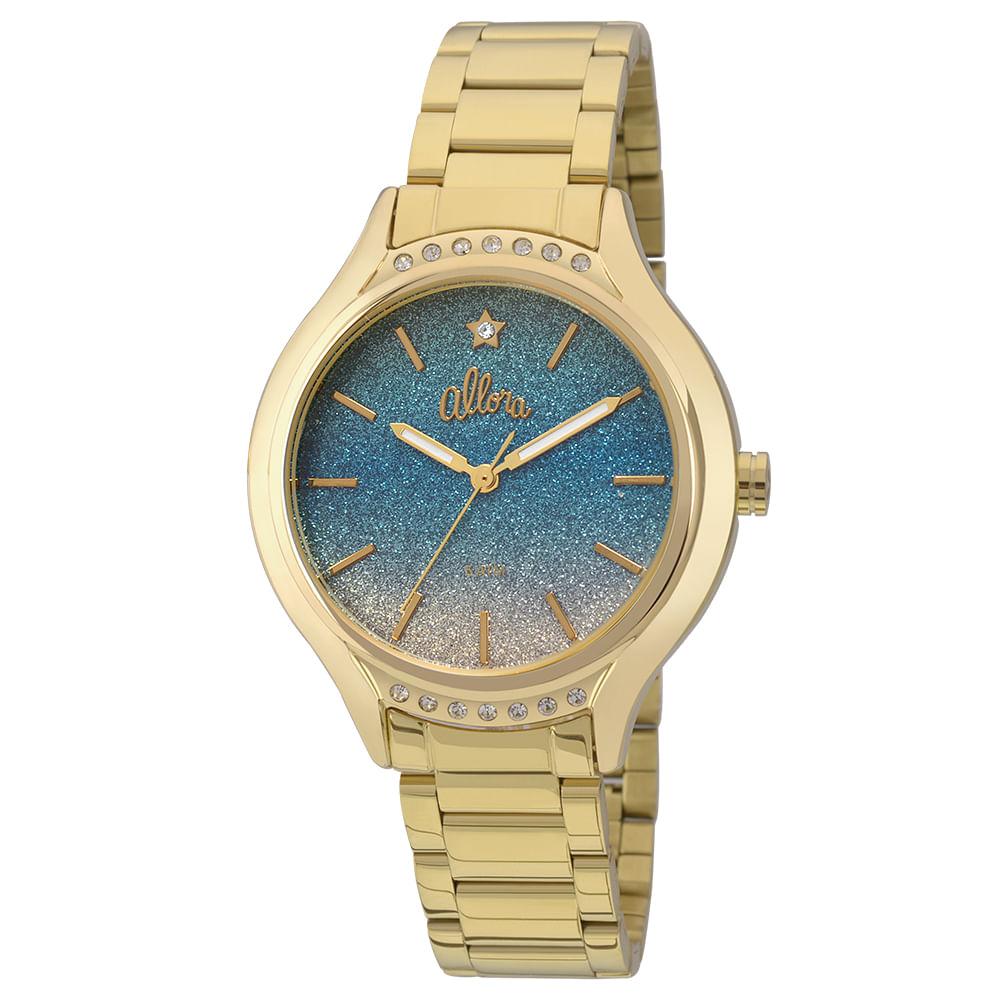 64f9f8e9be7 Relógio Allora Primavera Dourado - AL2036CX 4A - timecenter