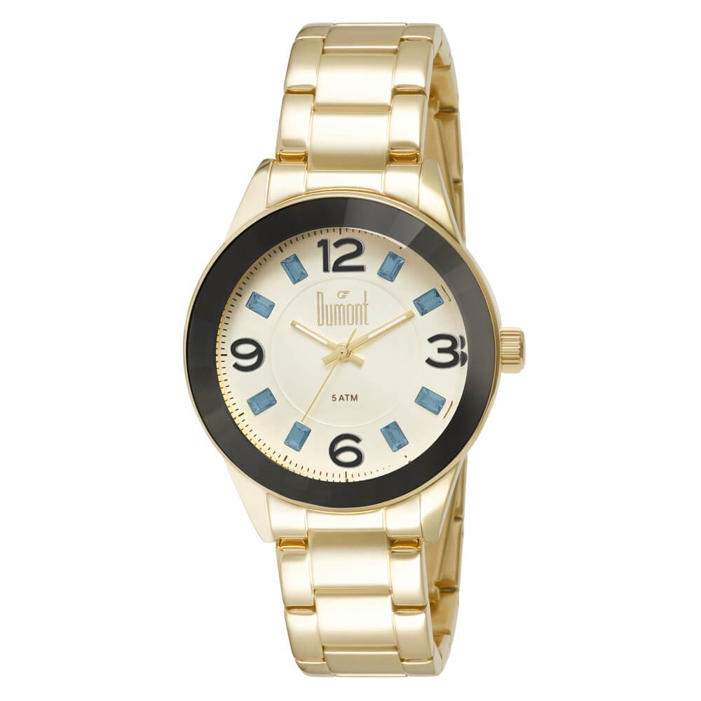ce8bb8b6eee Relógio Dumont Feminino Splendore DU2036LTR 4P Dourado - timecenter