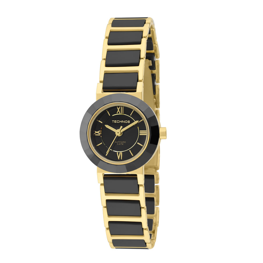 94dfaa1c349ce Relógio Technos Feminino Analógico Preto e Dourado 2035LWF 4P ...