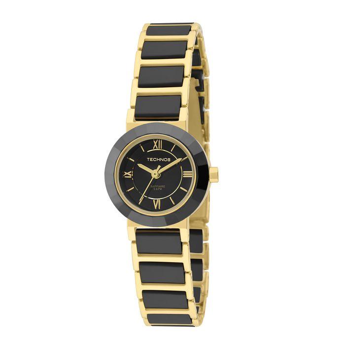b2d4f0f8d149d Relógio Technos Feminino Analógico Preto e Dourado 2035LWF 4P - technos