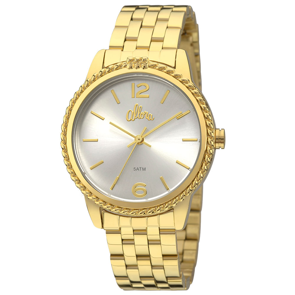 Allora. Relógio Allora Coleção Nó de Marinheiro AL2035FDP 4B - Dourado 7dc54b6c33