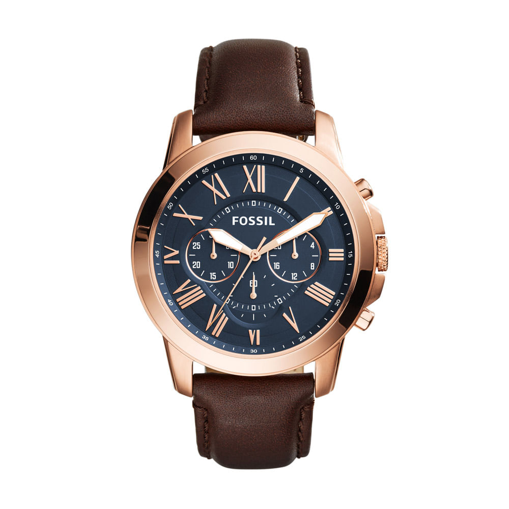Relógio Fossil Masculino Grant - FS5068 3AI - fossil 3df2e39b67
