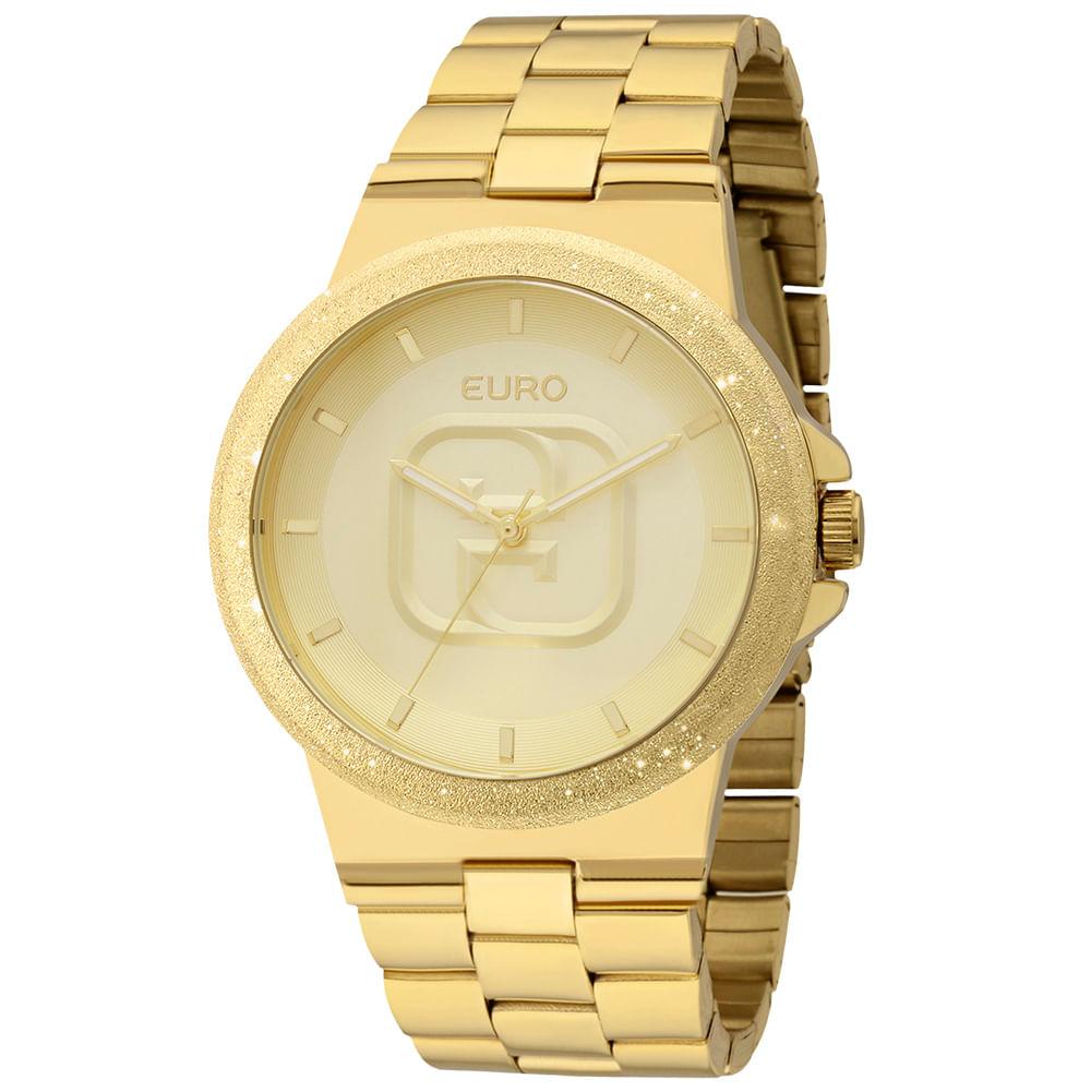 7bbfae9bb94 -26%. EU2036LZX4D. Euro. Relógio Euro Feminino Glitz EU2036LZX 4D - Dourado