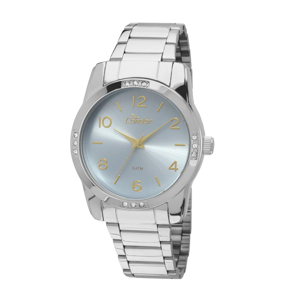6b1f652e159 Relógio Condor Coleção Basic CO235KOJ 3Z - Prata
