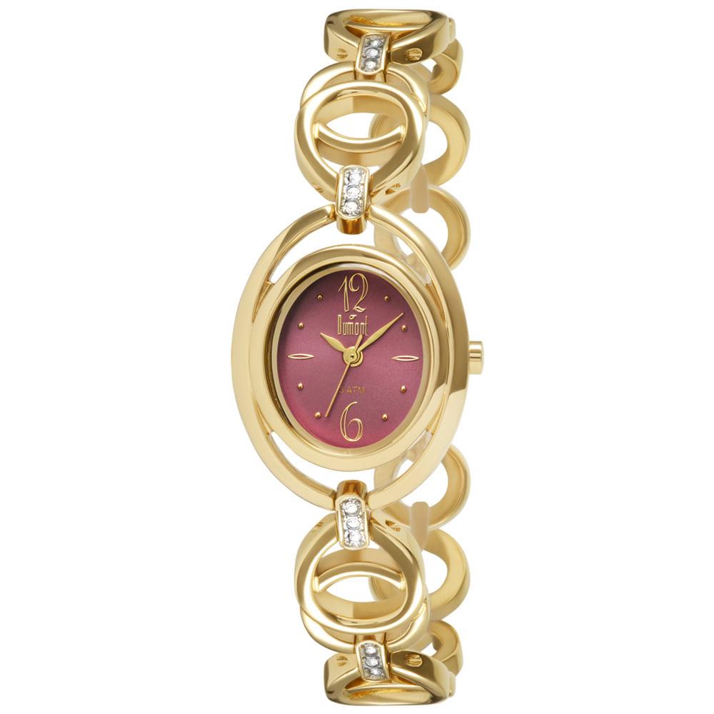 Relógio Dumont Splendore Feminino DU2035LQE 4N Dourado - timecenter c1cd26ee56