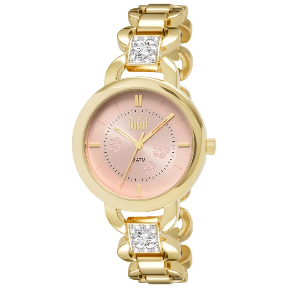 2fe72c0c5d9 Relógio Dumont Splendore Feminino DU2035LQH 4T Dourado - timecenter